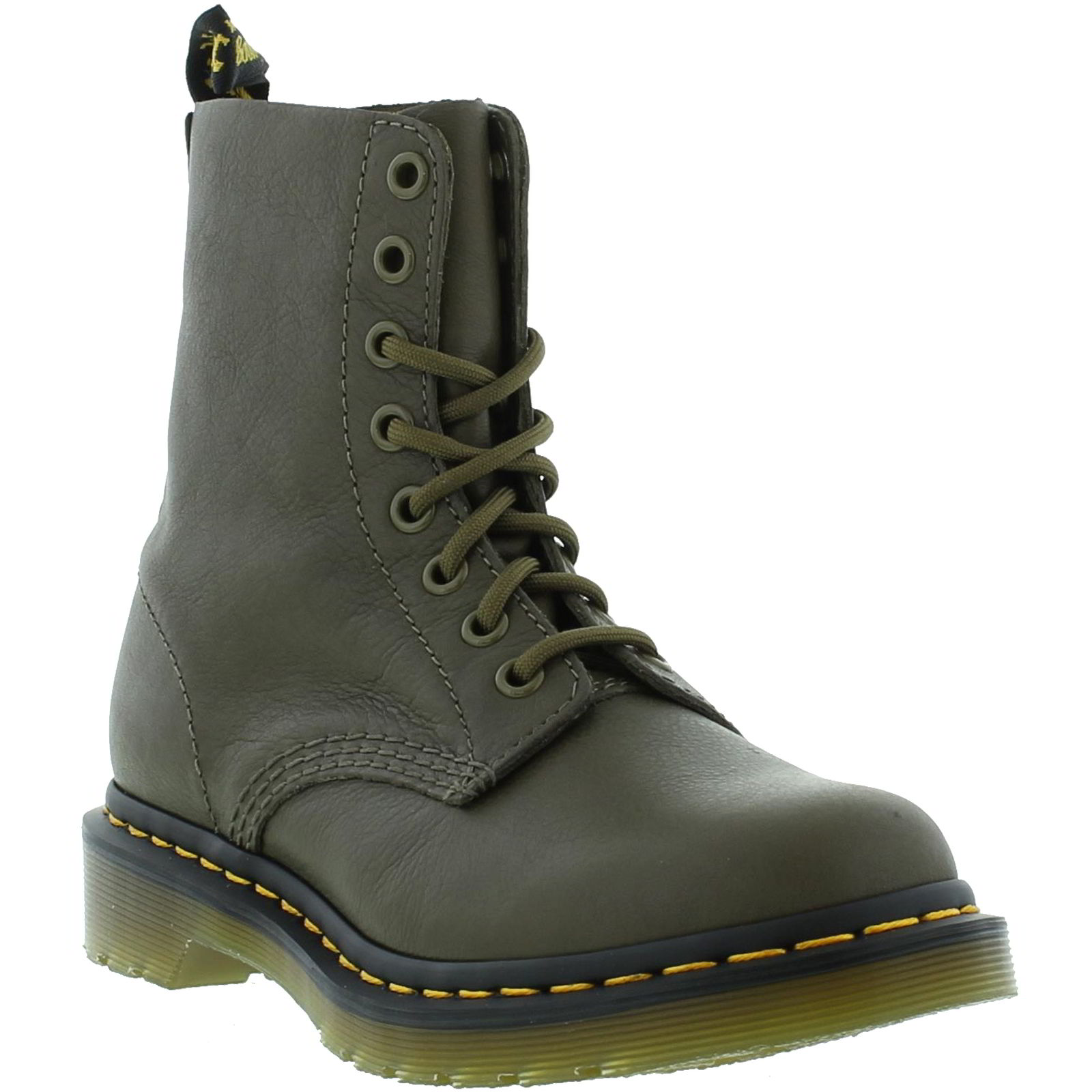 dr martens 1460 pascal womens green soft leather ankle. Black Bedroom Furniture Sets. Home Design Ideas