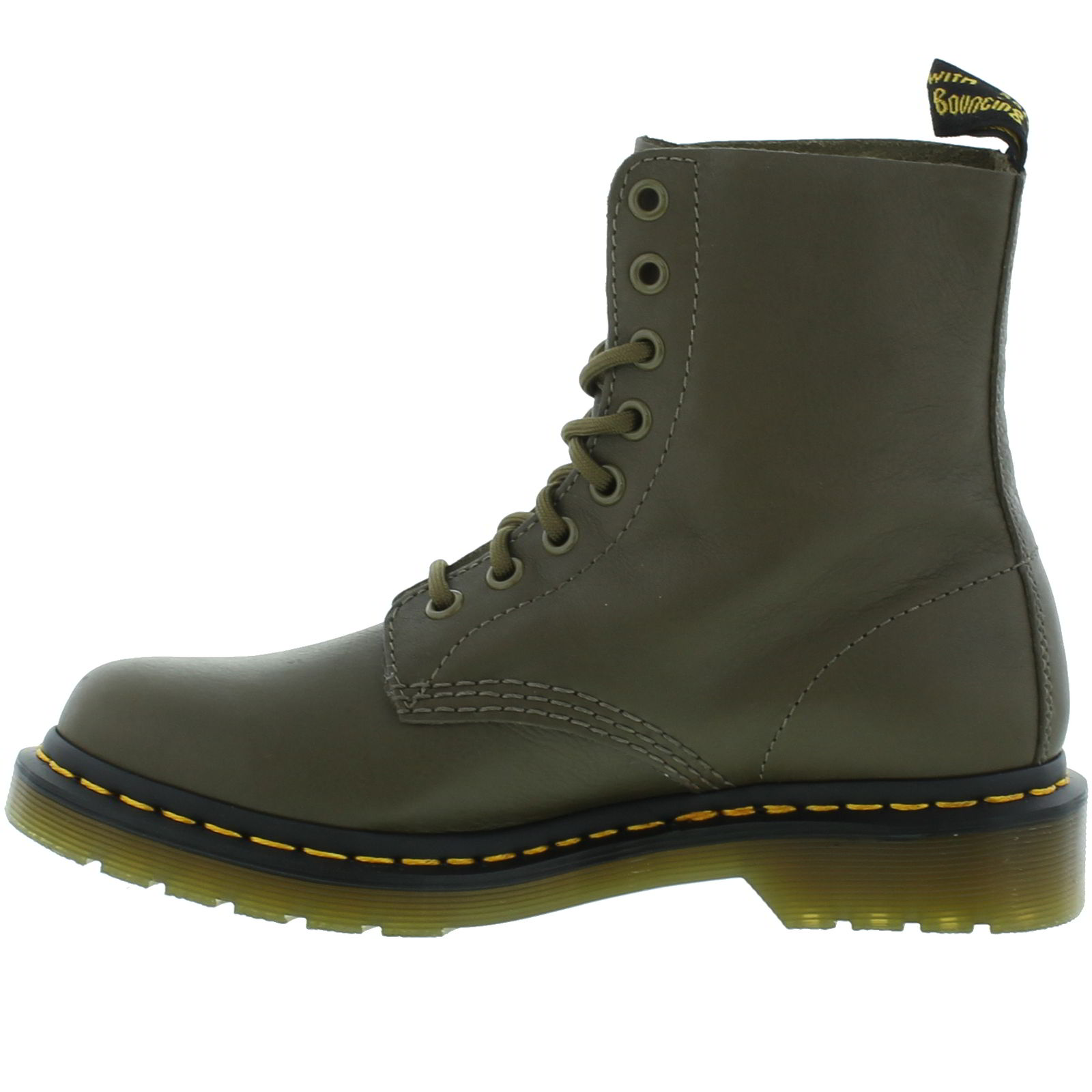 dr martens 1460 pascal womens green soft leather ankle boots size 4 8. Black Bedroom Furniture Sets. Home Design Ideas