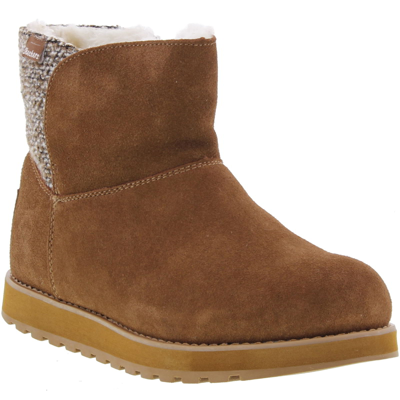skechers keepsakes peekaboo womens warm suede leather