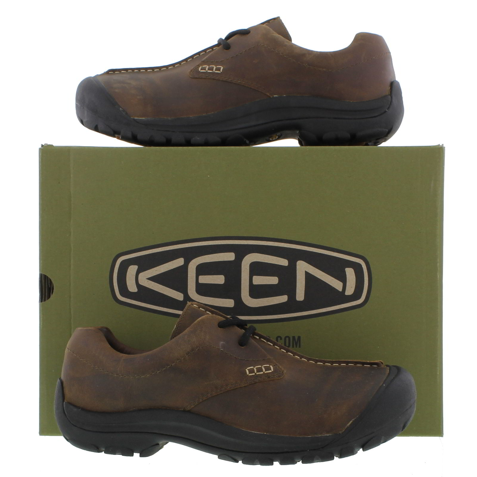 Keen Boston Iii Mens Brown Leather Shoes