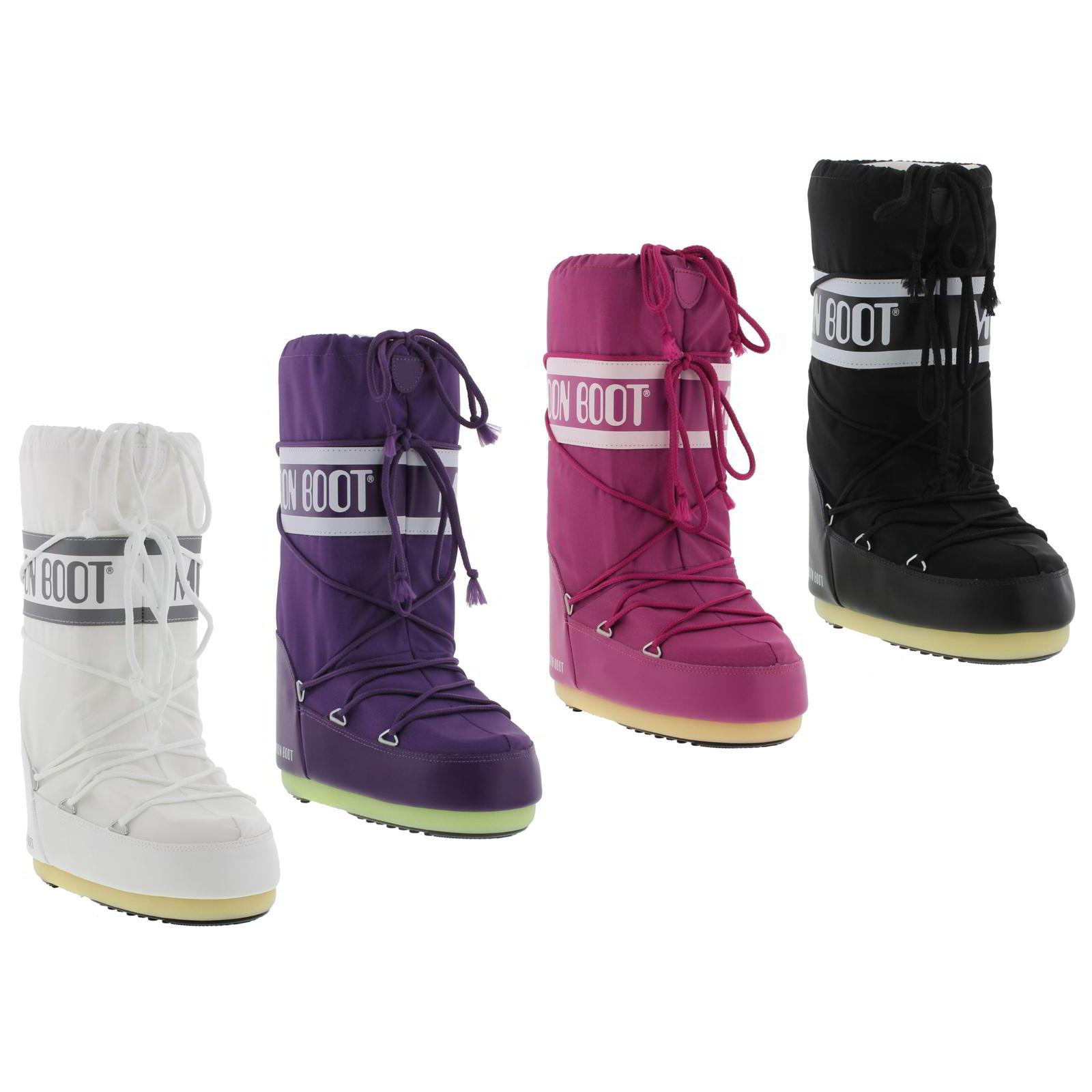 tecnica moon boots womens black white pink purple