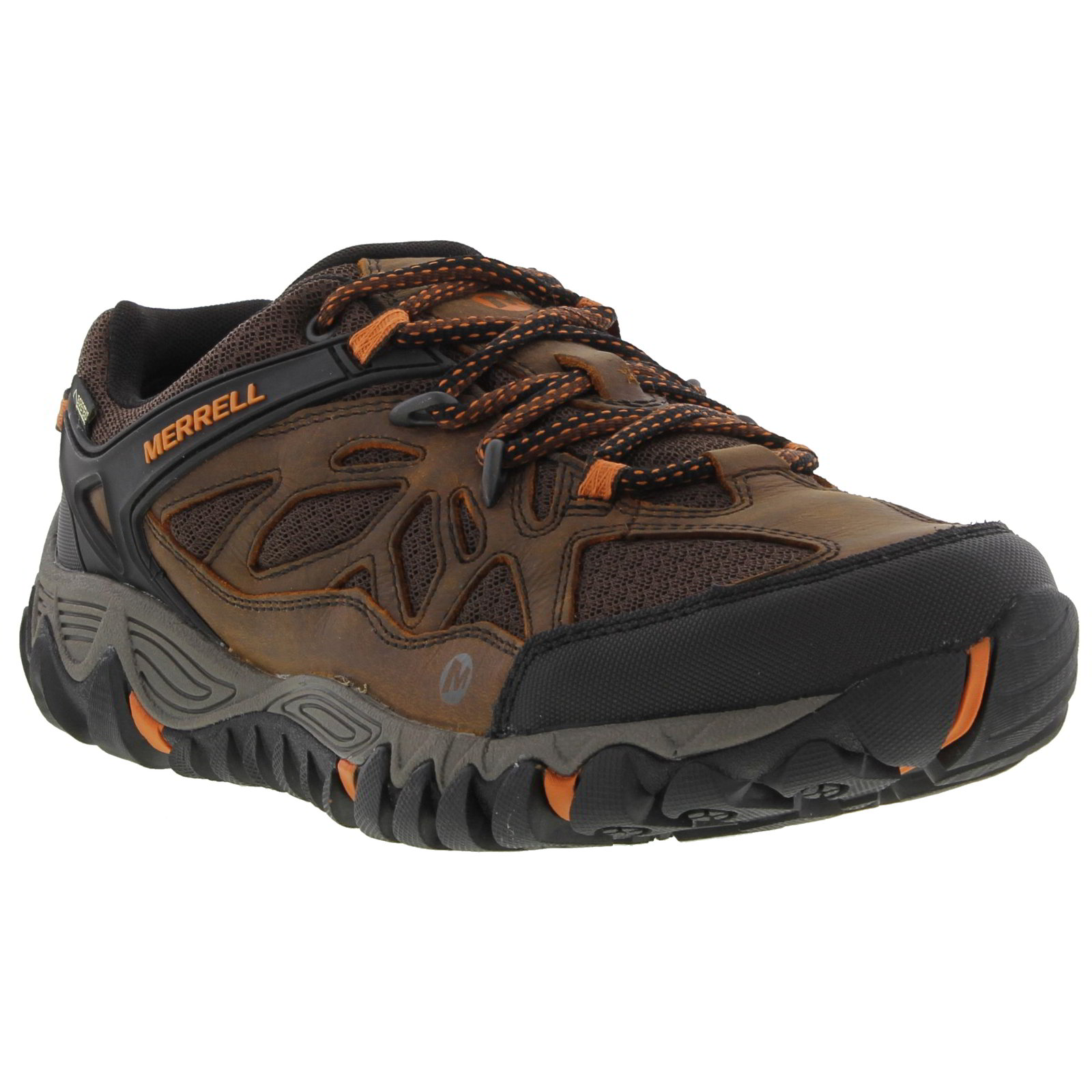 Merrell All Out Blaze Ventilator Gore Tex Mens Walking Shoes Brown