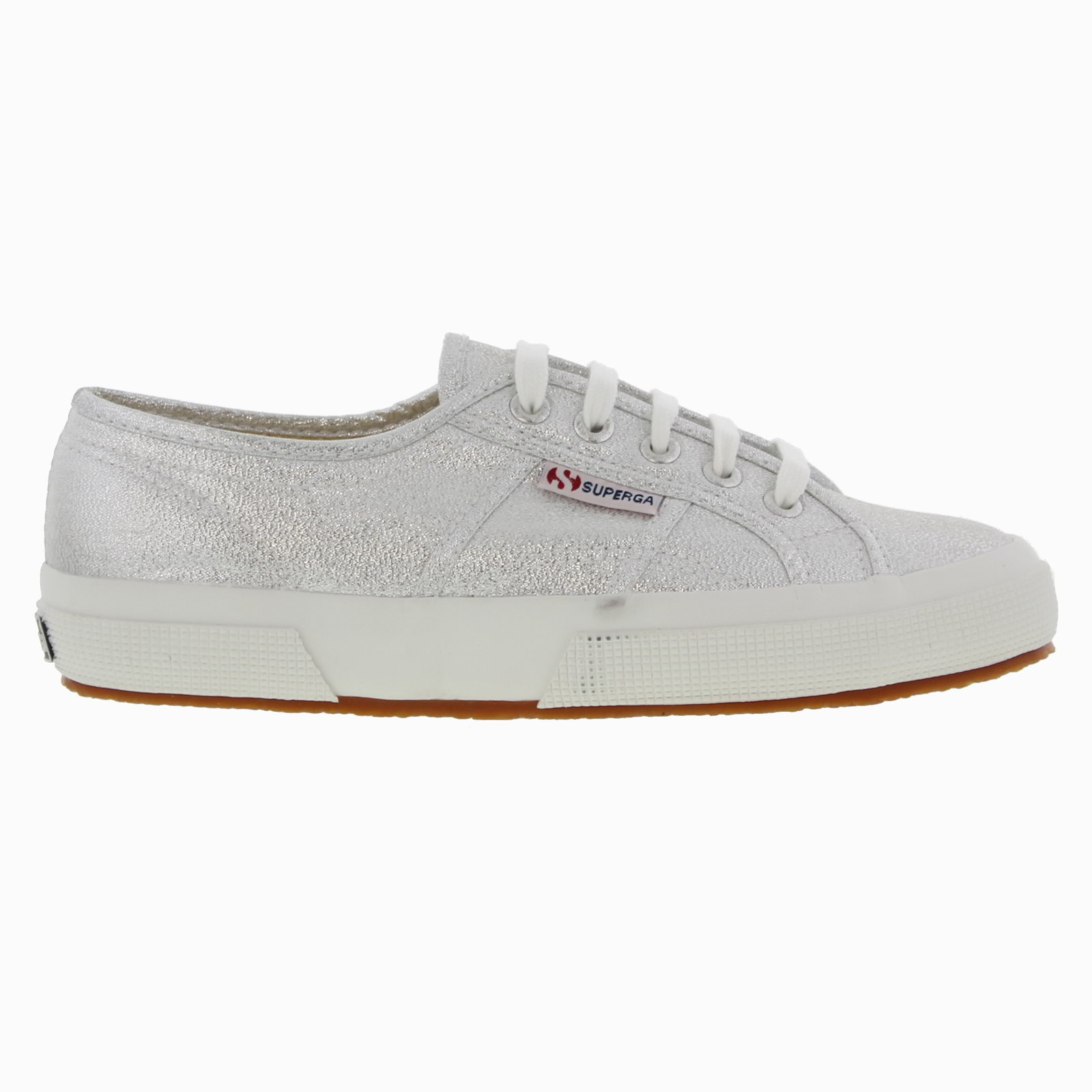 superga 2750 lamew womens silver canvas lace up trainers shoes size uk 4 8. Black Bedroom Furniture Sets. Home Design Ideas