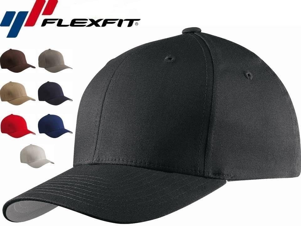 5001 flexfit v flexfit cotton twill fitted baseball blank plain hat cap flex fit ebay. Black Bedroom Furniture Sets. Home Design Ideas