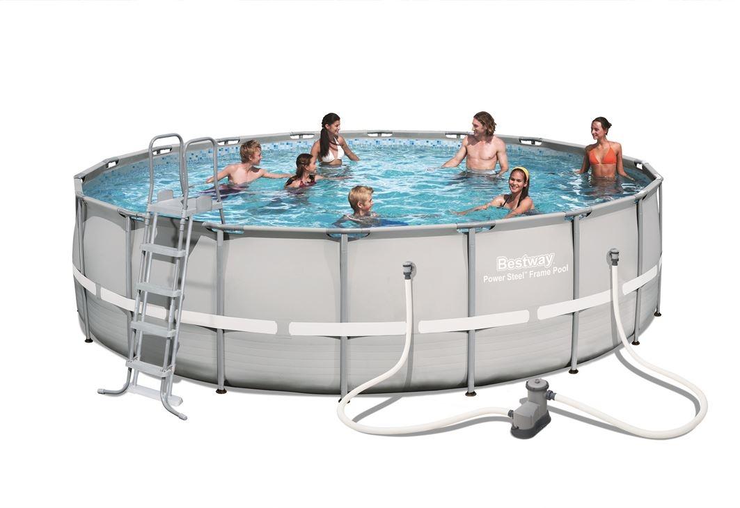 Bestway 18ft power steel frame swimming pool 26 000l ebay - Bestway power steel frame pool ...