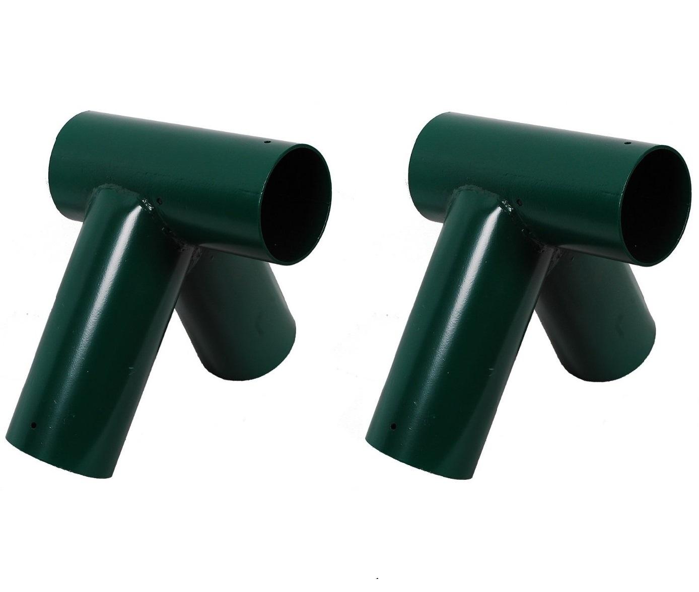 pair of rebo 100mm tube swing bracket diy swing frame round wood style green