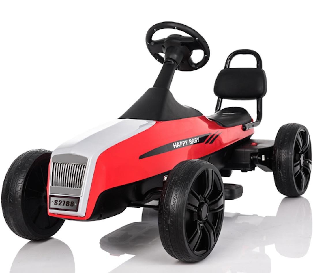 Retro electric 12v battery operated go kart red ebay for 12 volt motor go kart