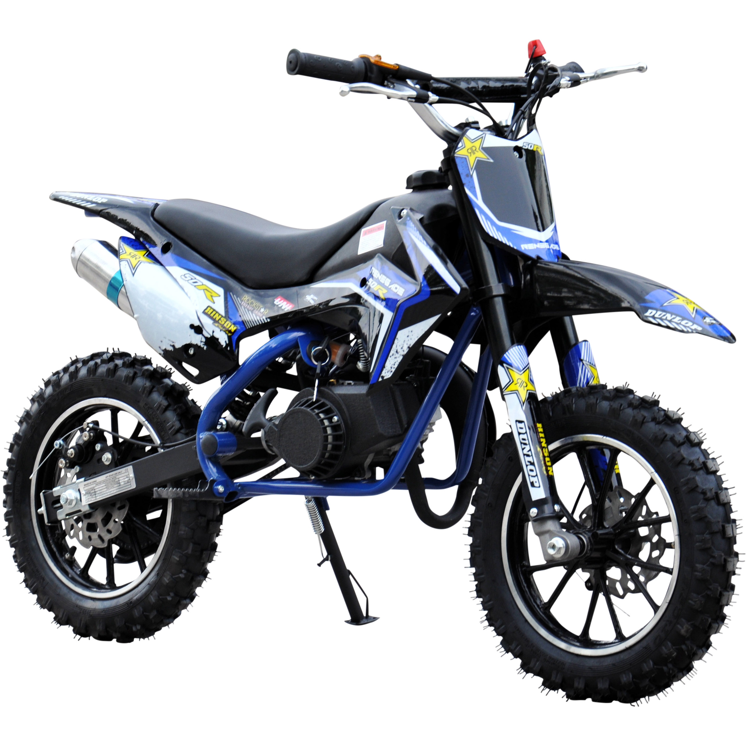 renegade 50r 49cc petrol kids mini dirt bike moto cross scrambler 4 colours. Black Bedroom Furniture Sets. Home Design Ideas