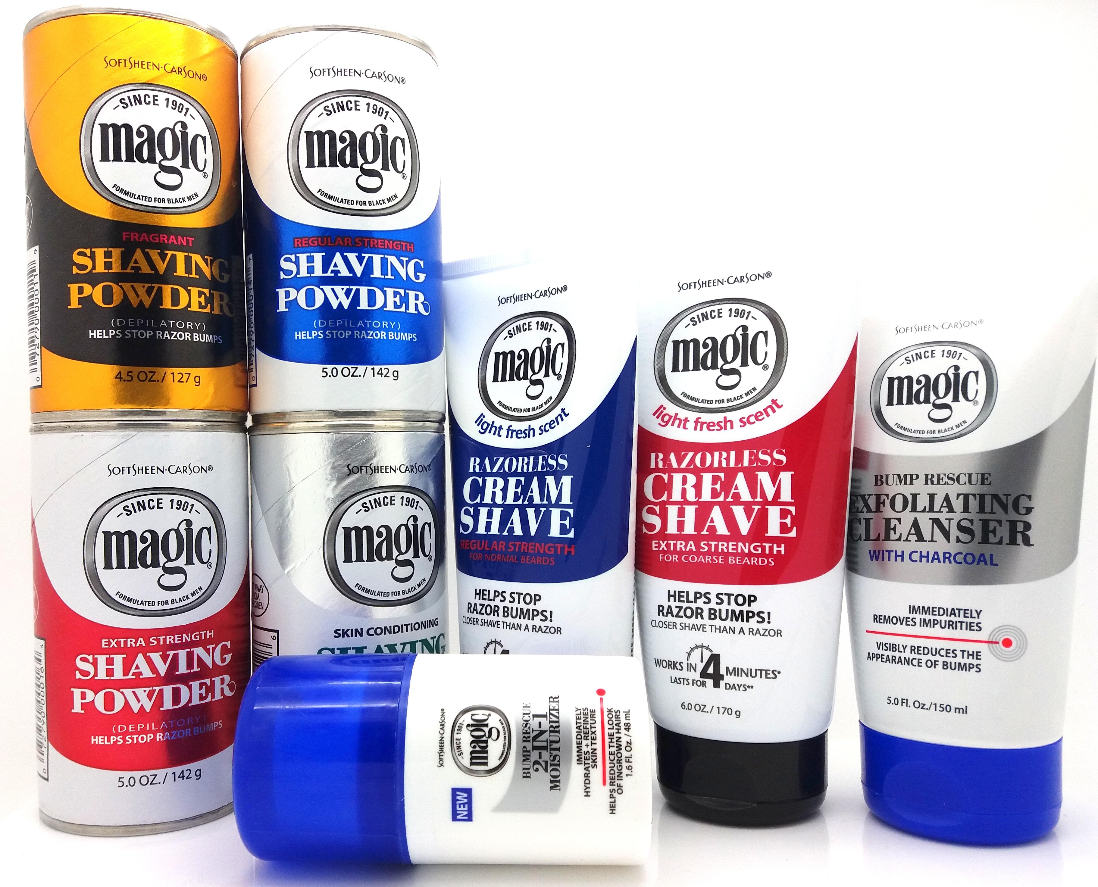 how to use magic shaving powder