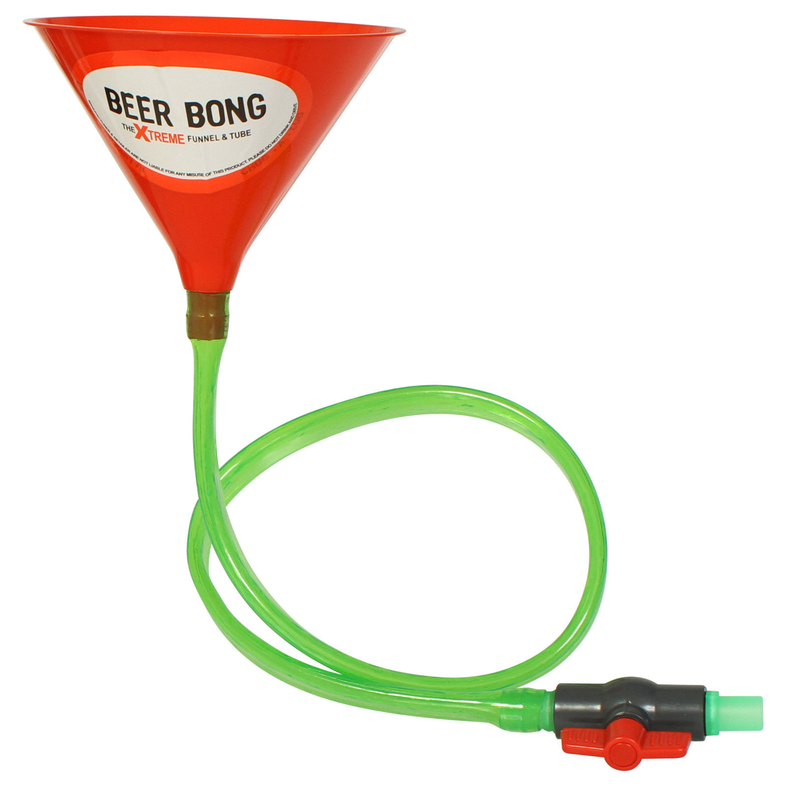 The Xtreme Drinking Funnel Amp Tube Beer Bong With Stop