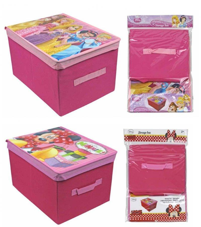 Princess Toys Box Storage Kids Girls Chest Bedroom Clothes: Disney Children's Foldable Toy Clothes Bedroom Storage Box