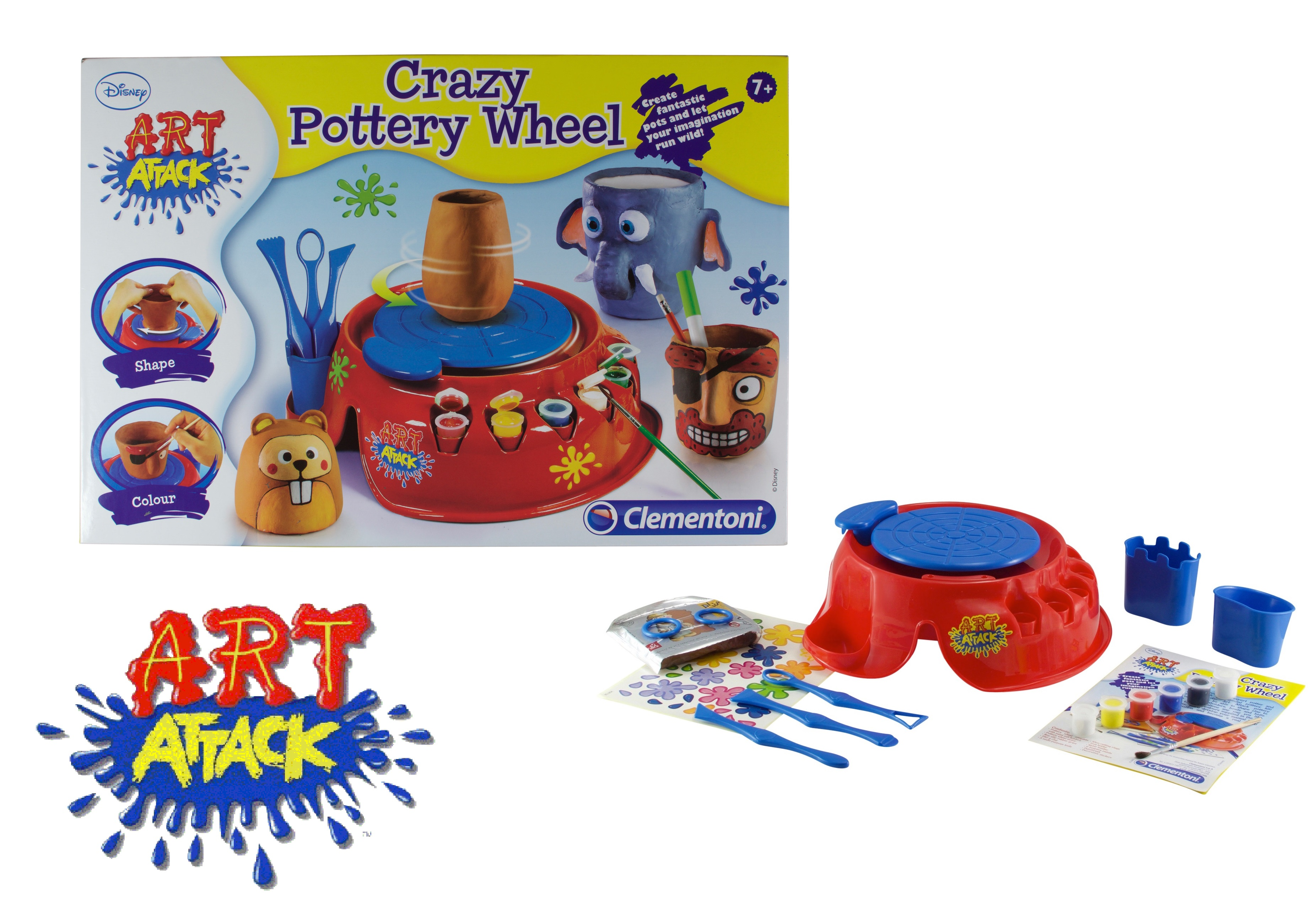 Art Attack Pottery Wheel Creative Toys Kids Gift Set Play Kit