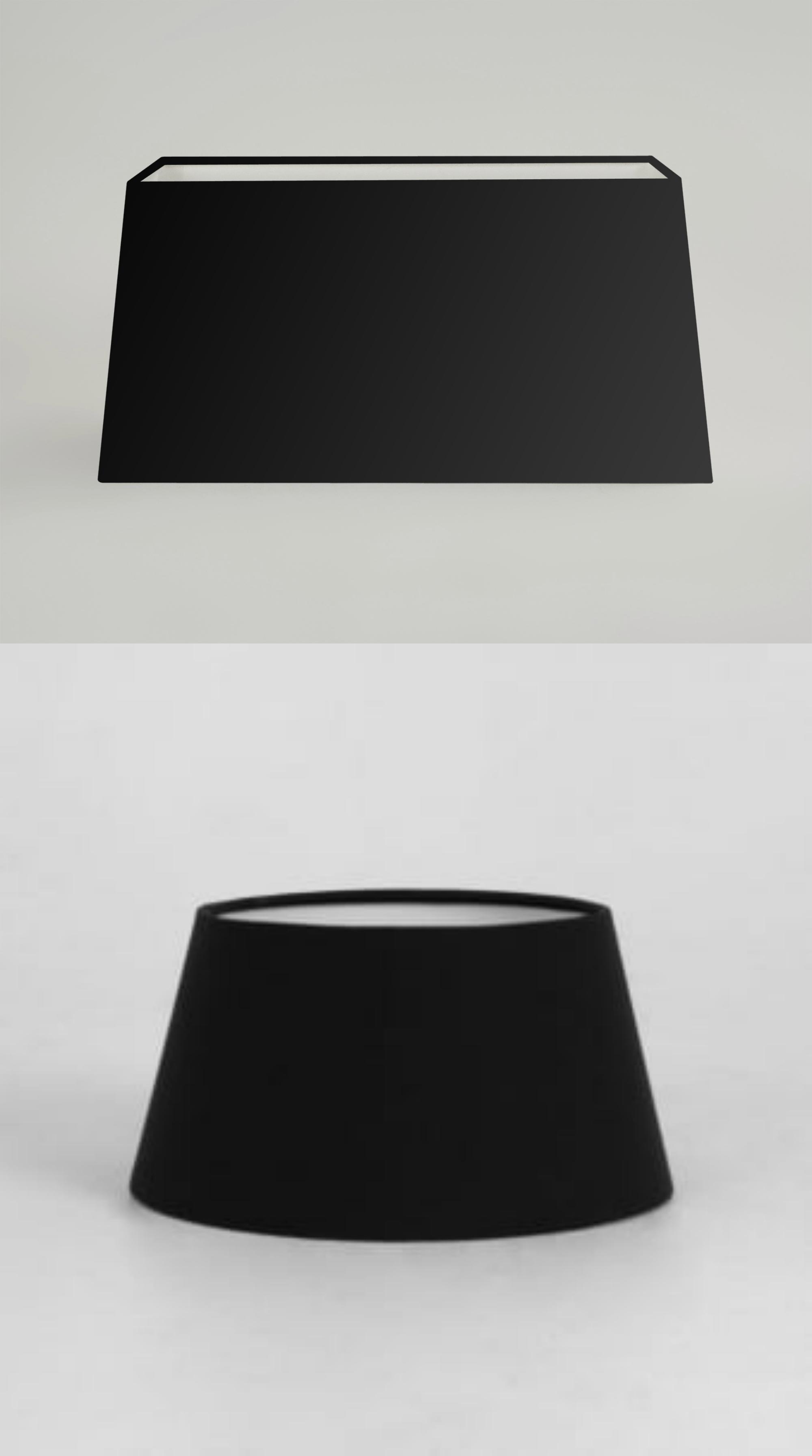 modern black fabric table lamp light shade round drum. Black Bedroom Furniture Sets. Home Design Ideas