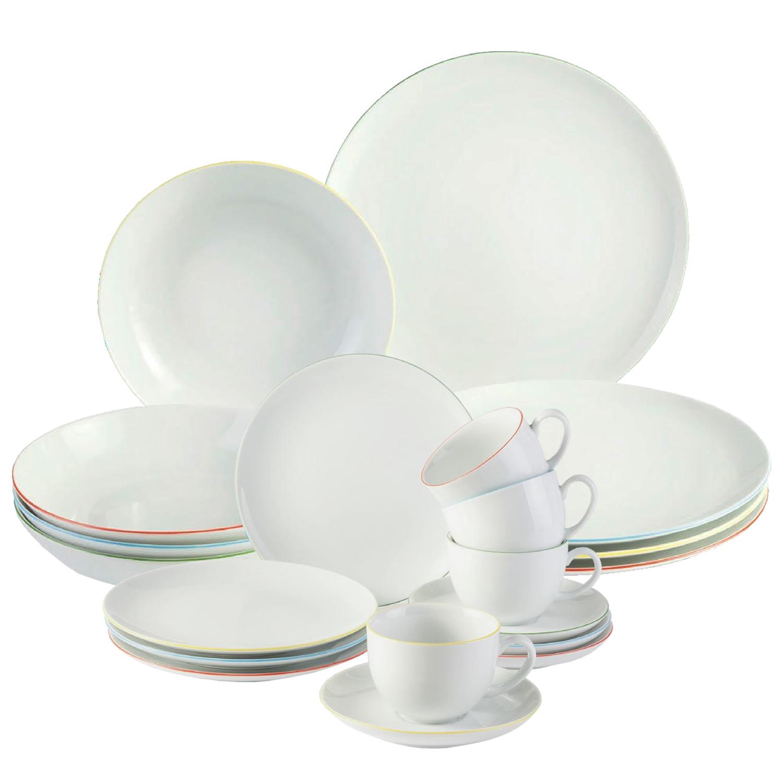 Villeroy boch porcelain dining dinner kitchen 20 piece for Kitchen set plates