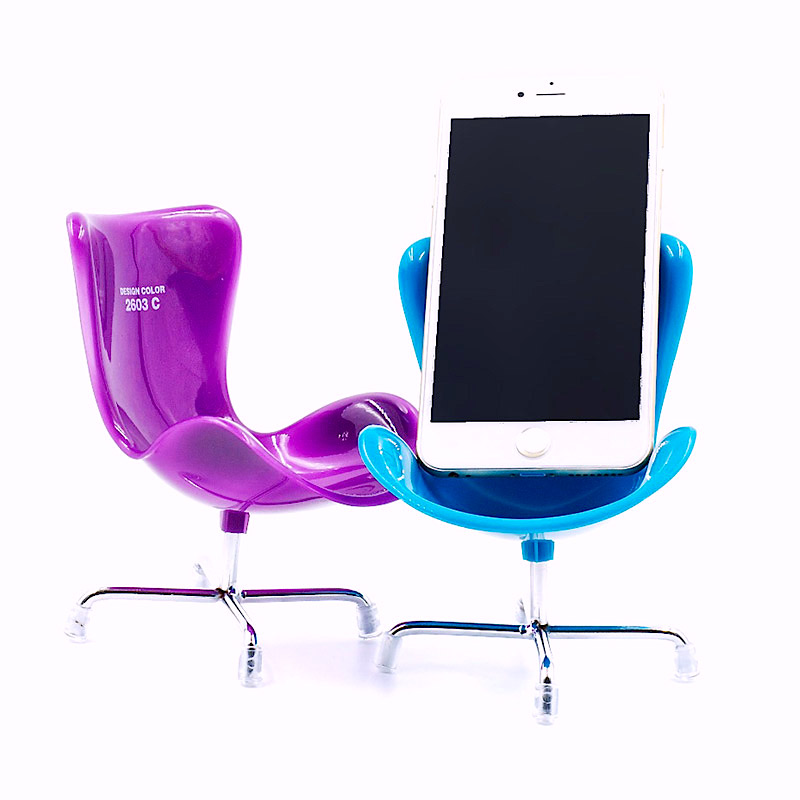 4 x Mobile Phone Holder Novelty Chair Desk Stand iPhone Samsung