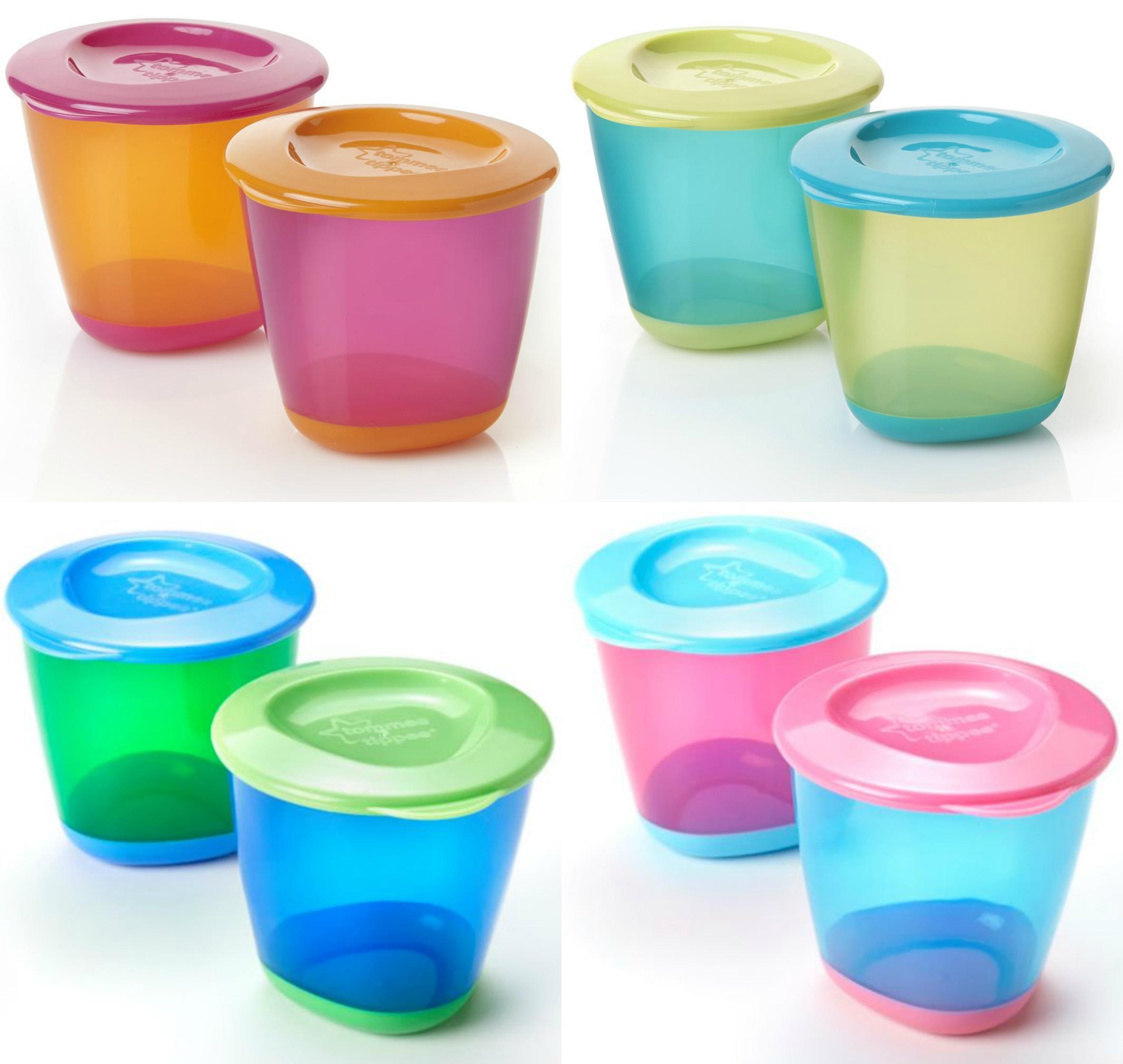 Tommee Tippee Explora 4oz Pop Up Weaning Pots Baby Food