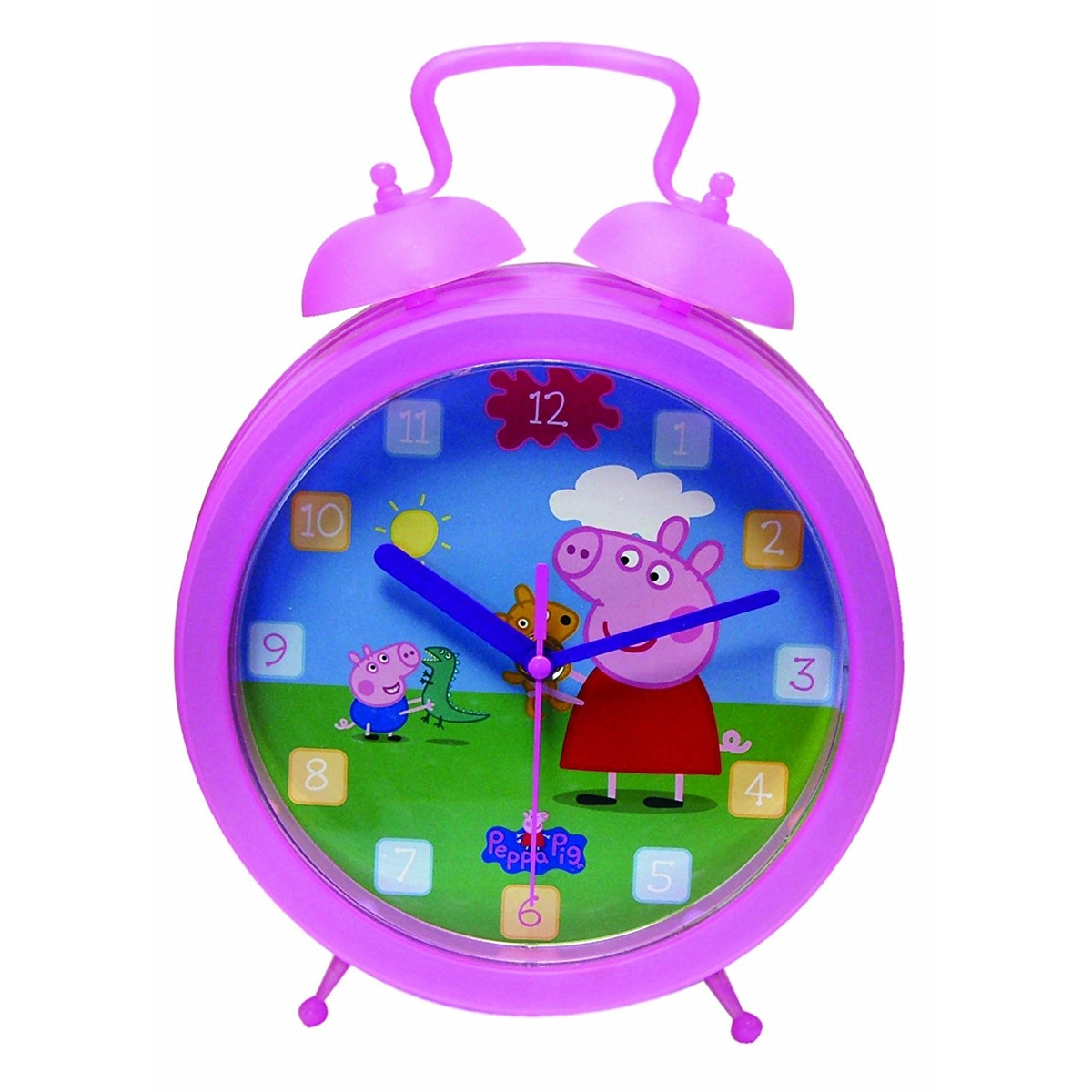 Peppa Pig Twinbell Kids Wall Clock Home Decoration Room ...