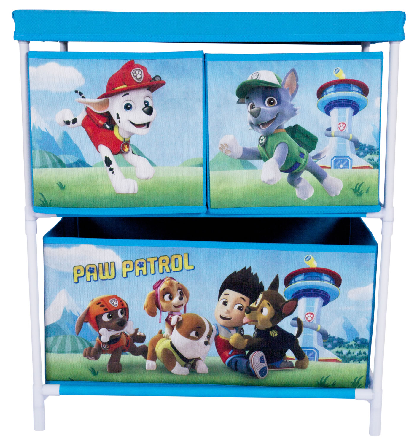 Paw Patrol Toy Organizer Bin Cubby Kids Child Storage Box: Paw Patrol Kids Toy Storage Unit 2 Tier 3 Drawer Organiser