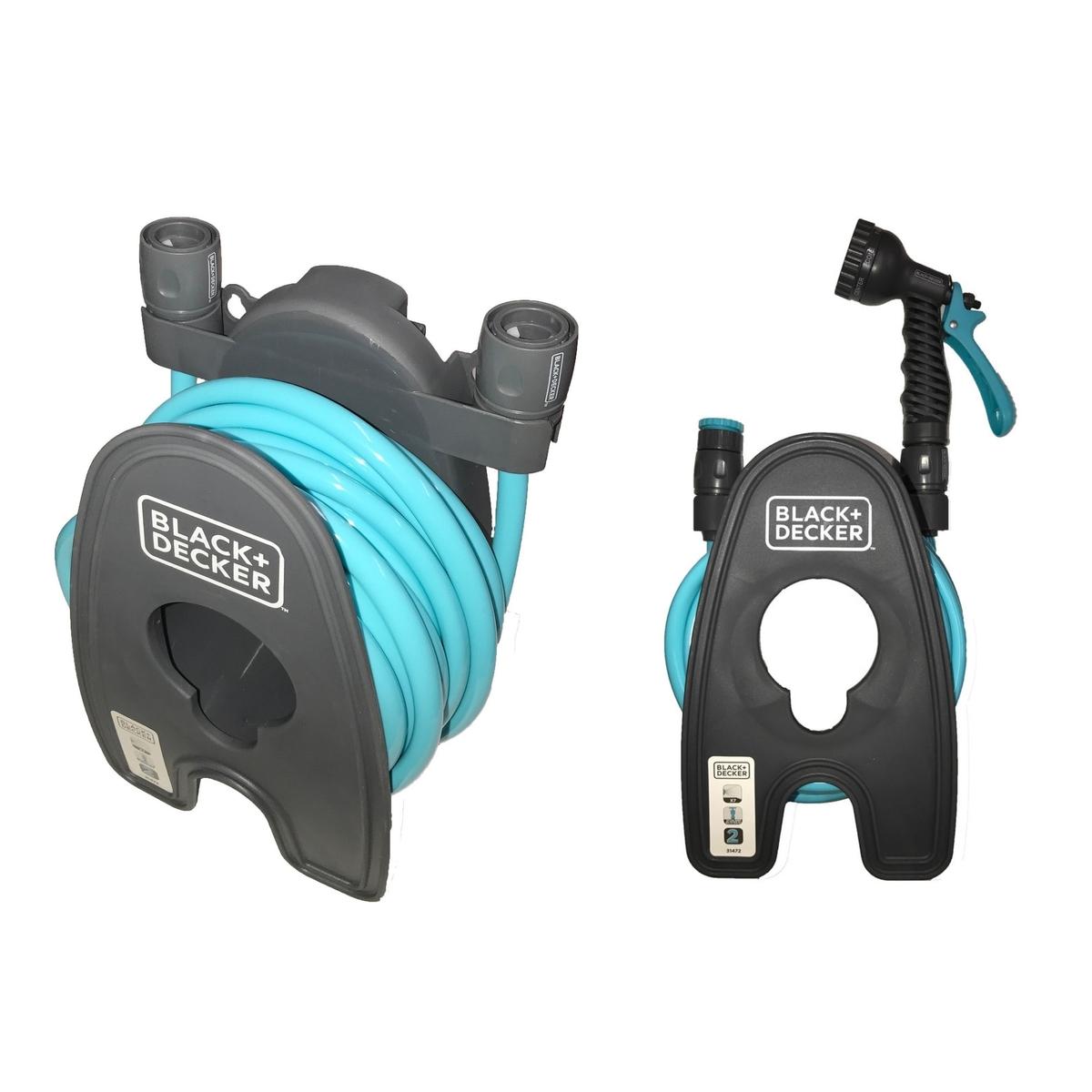 Bath Tap Shower Adapter Black Amp Decker Garden Hose Reel Pipe Holder Spray Gun