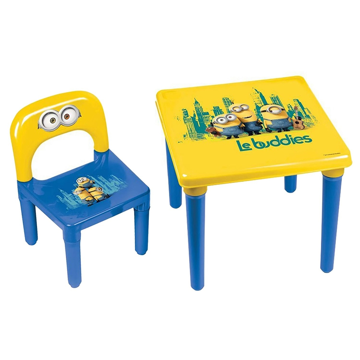 Minions Kid s Plastic Play Activity Table and Chair Set