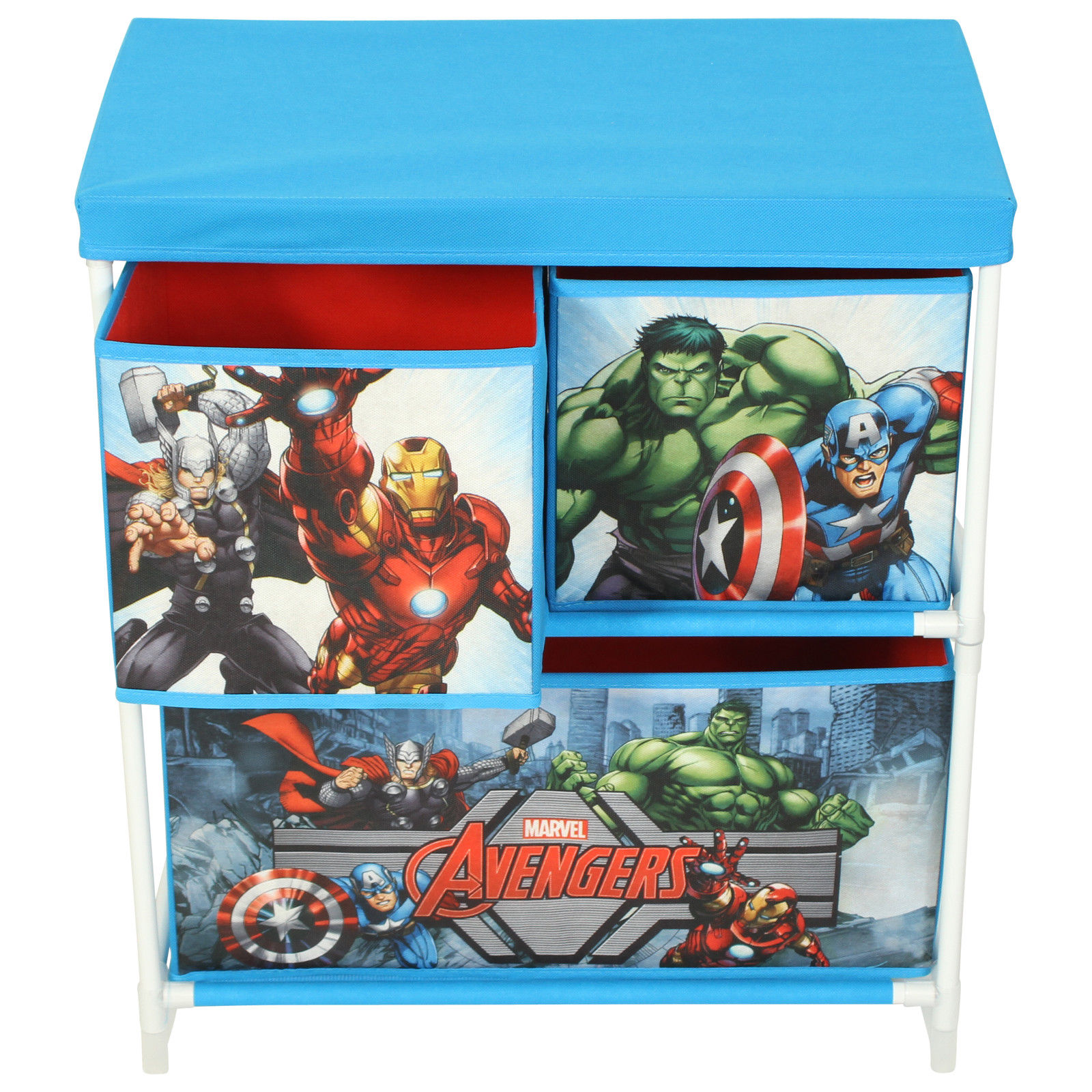 Paw Patrol Kids Toy Organizer Bin Children S Storage Box: Children's Toy Storage Box 3 Drawer Cabinet Marvel Disney
