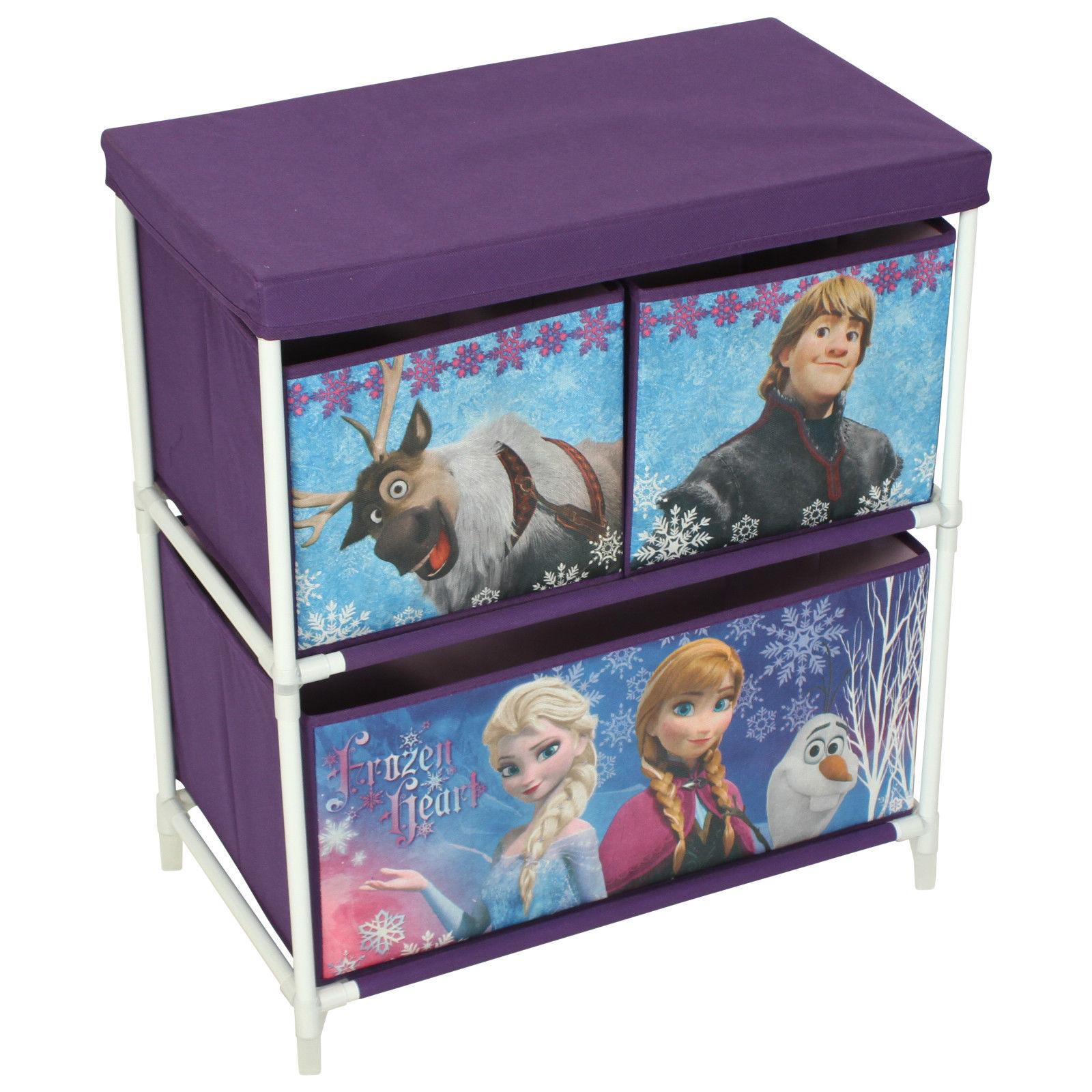 Children's Toy Storage Box 3 Drawer Cabinet Marvel Disney Avengers ...