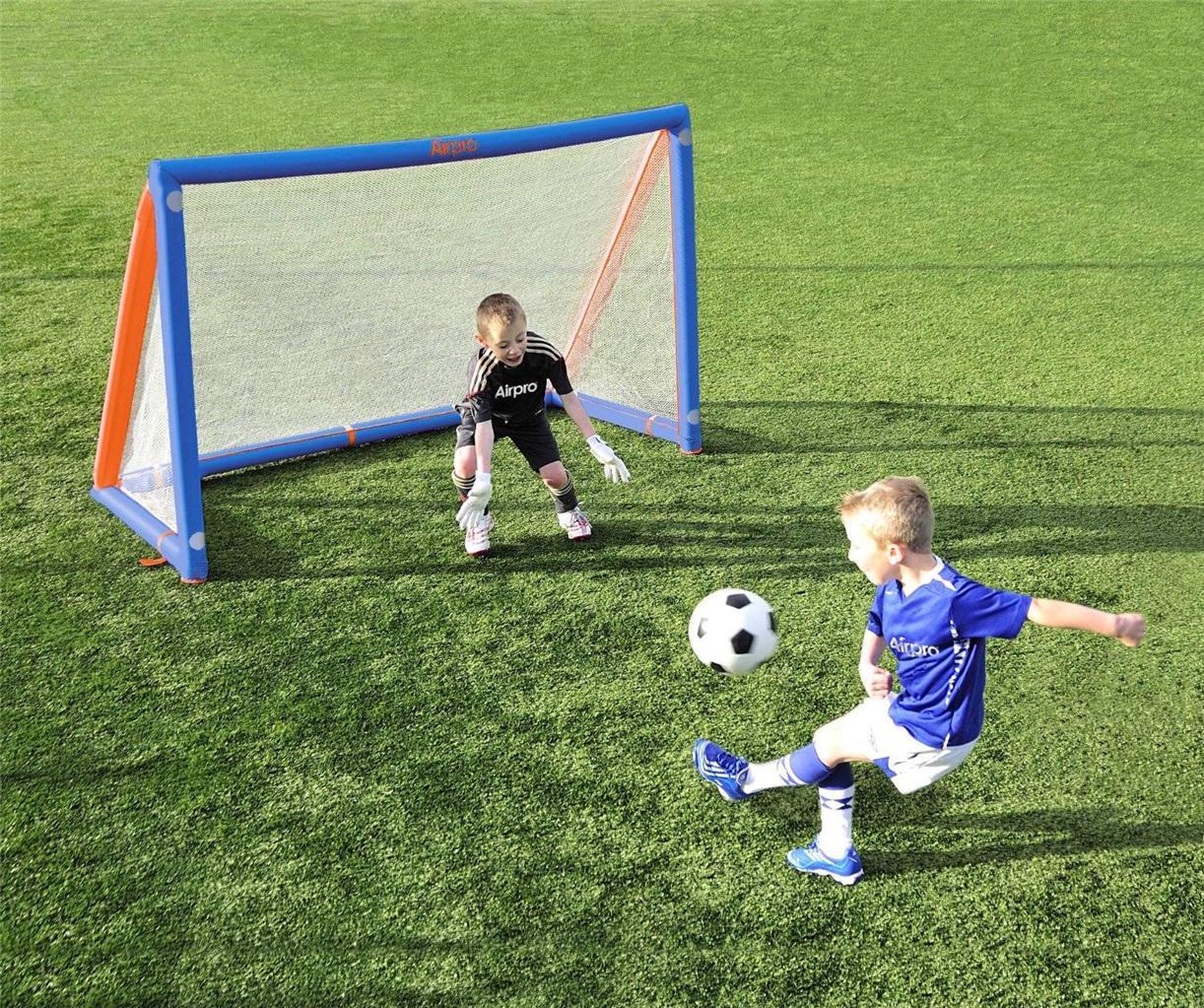 Kids Airpro Goal 6x4ft Inflatable Football Soccer Training Match Post Net Sports Ebay