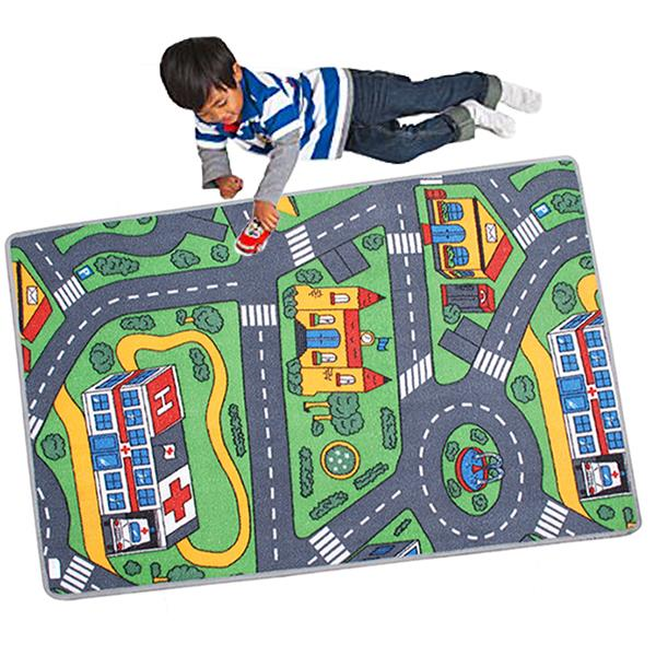 120x80cm Childrens Kids Car Road City Town Circuit Play