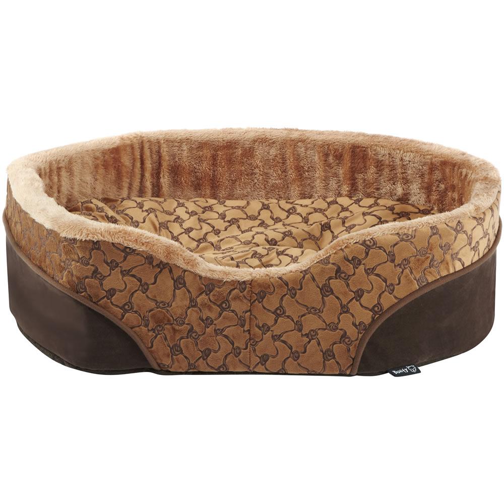 Bunty Mocha Dog Bed Soft Washable Fleece Fur Cushion Warm