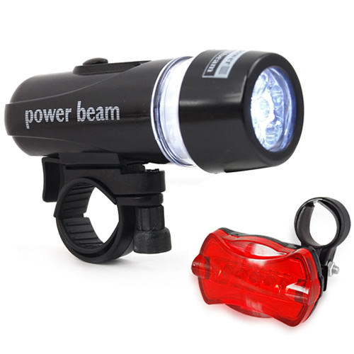 Waterproof Bright 5 LED Bike Bicycle Cycle Front and Rear Back Tail Light Lighfa