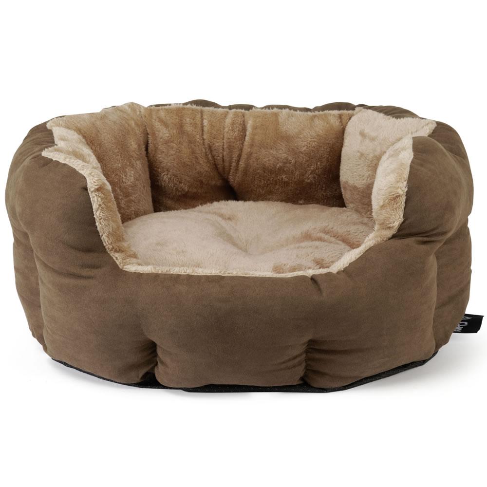 Bunty polar dog bed soft washable fleece fur cushion warm for Luxury large dog beds