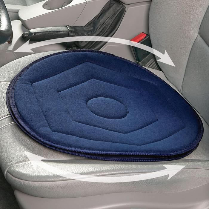 rotating car seat cushion swivel chair mobility aid driving twisting support new ebay. Black Bedroom Furniture Sets. Home Design Ideas