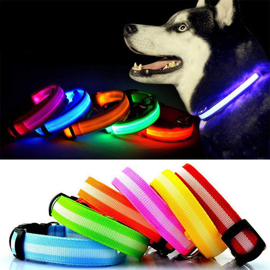 Bunty-Adjustable-LED-Flashing-Light-Safety-Luminous-Dog-Puppy-Pet-Glowing-Collar