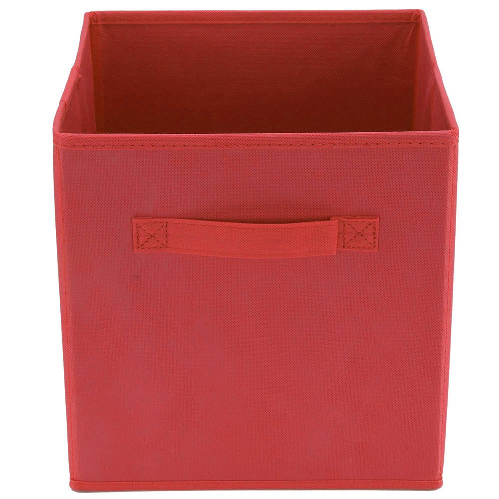 New Non Woven Fabric Folding Underwear Storage Box Bedroom: Foldable Square Fabric Storage Box Drawer Toys Books