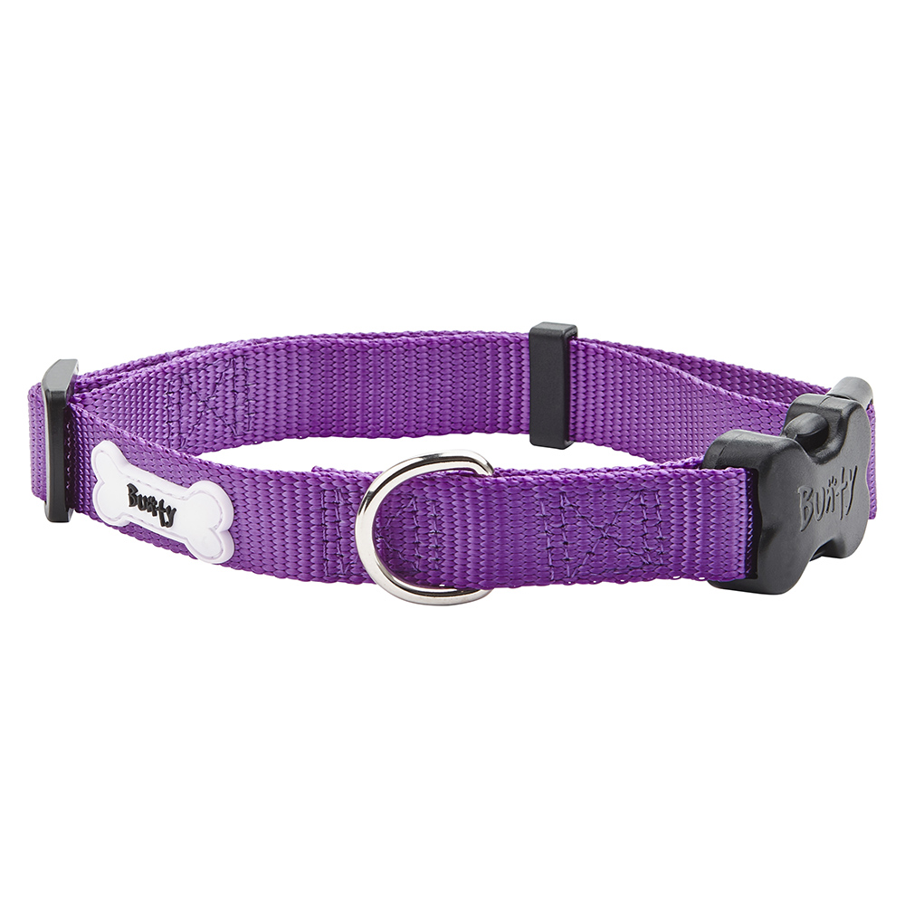 Adjustable-Soft-Strong-Fabric-Dog-Puppy-Pet-Collar-with-Buckle-and-Clip-for-Lead