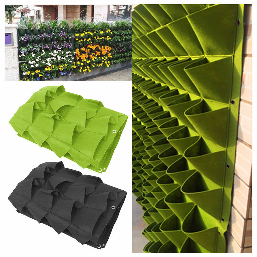 72 Pocket Planting Bag Hanging Wall Vertical Planter
