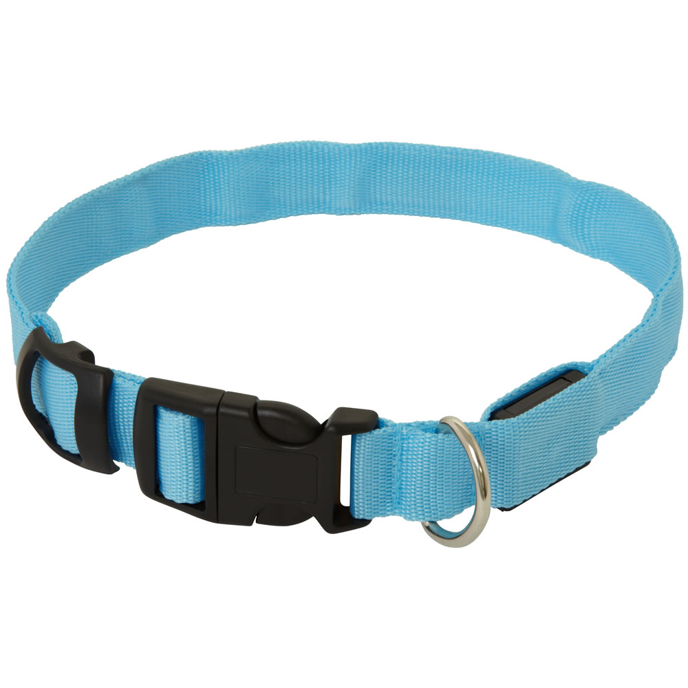 Adjustable Led Flashing Light Safety Dog Puppy Collar With