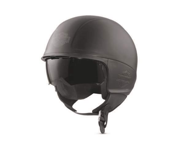 harley davidson delton open face motorcycle helmet matt black ebay. Black Bedroom Furniture Sets. Home Design Ideas