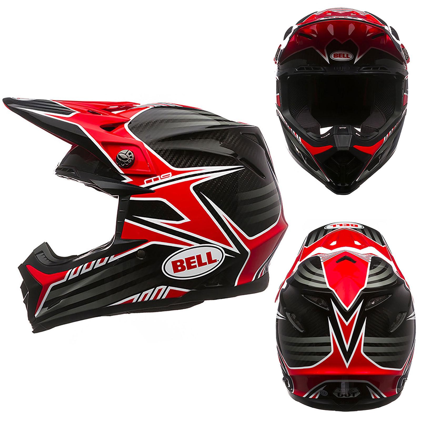 bell moto 9 carbon pinned tagger clash motocross mx enduro offroad helmet red ebay. Black Bedroom Furniture Sets. Home Design Ideas