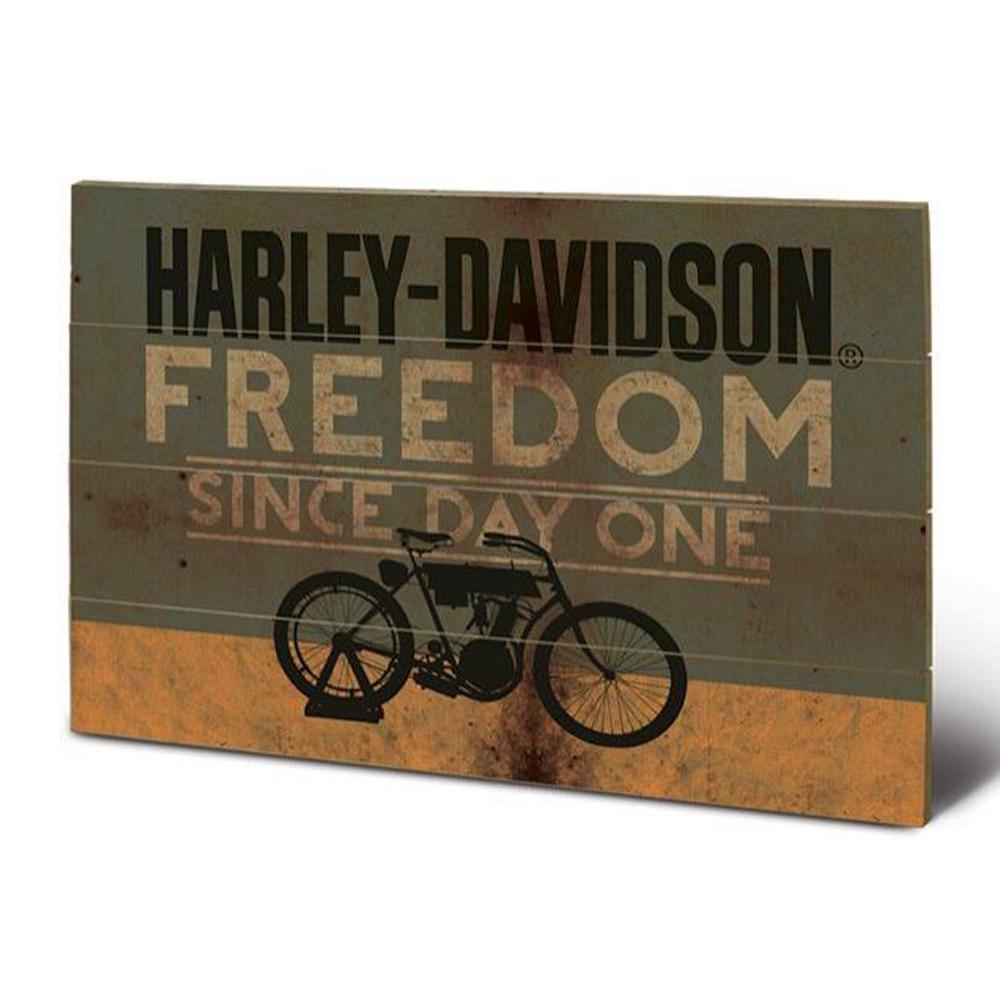 Genuine Harley-Davidson Freedom Wooden Wall Art New Gift