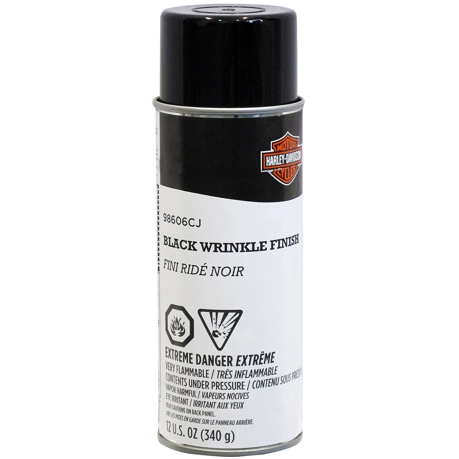 harley-davidson black wrinkle engine and transmission aerosol