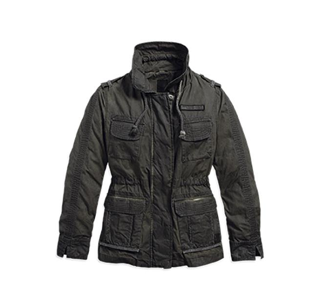 Harley Davidson Anorak Ladies Jacket Olive Green Large Ebay