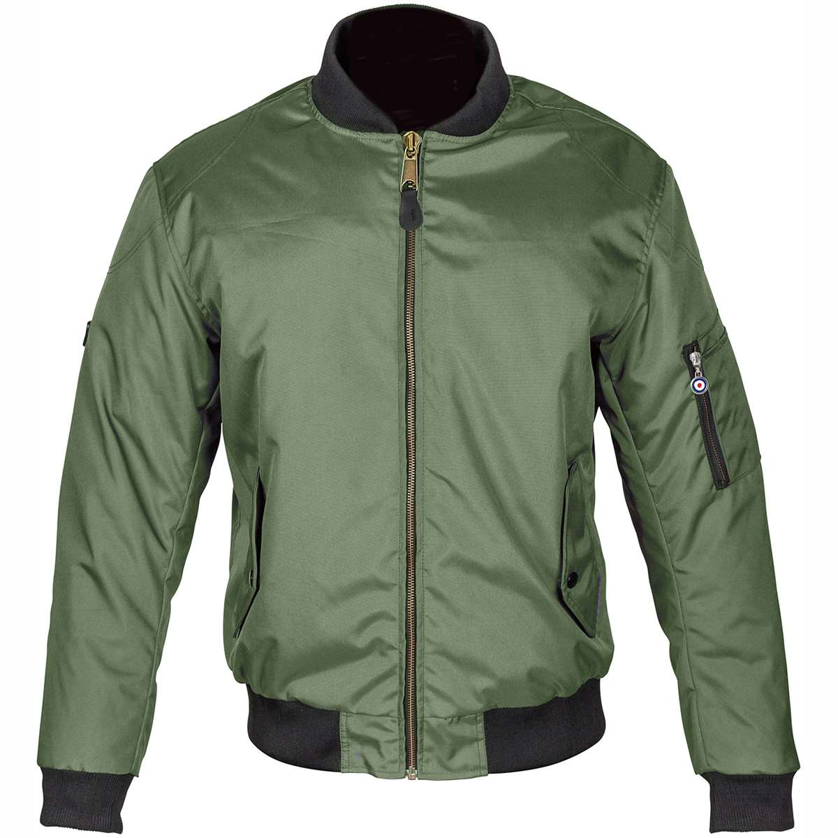 Spada Air Force One Motorcycle Waterproof CE Armour Bomber Jacket Casual Olive