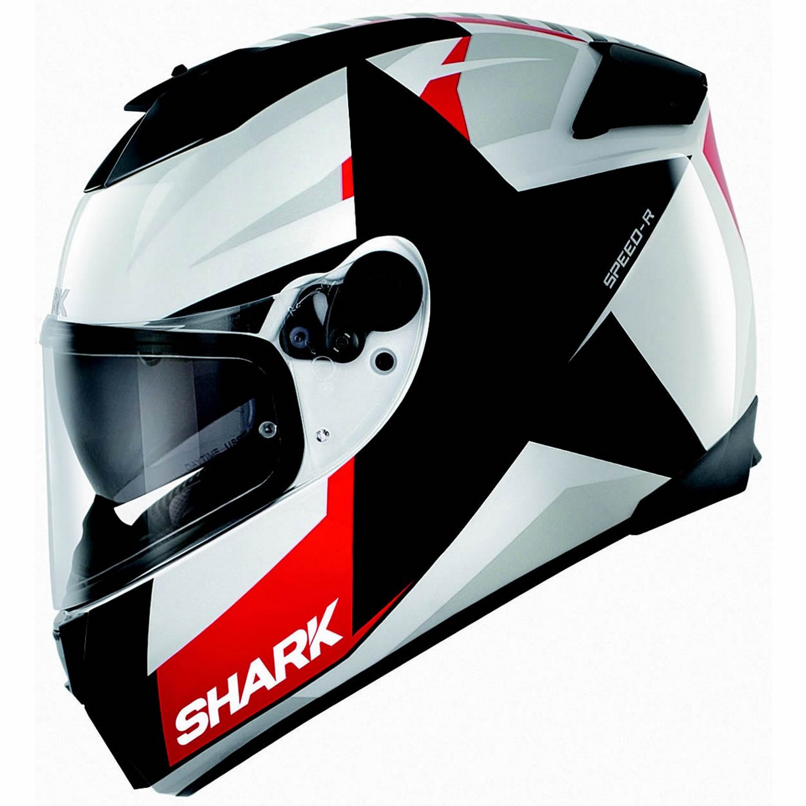 shark speed r texas full face motorcycle helmet black white red xl. Black Bedroom Furniture Sets. Home Design Ideas
