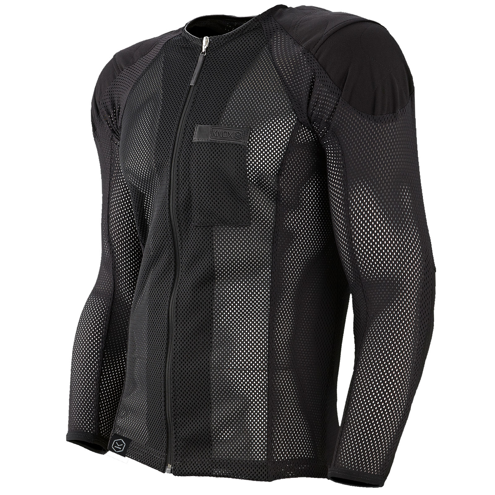 Knox urbane under motorcycle jacket mesh ce body armour for Motorcycle body armor shirt