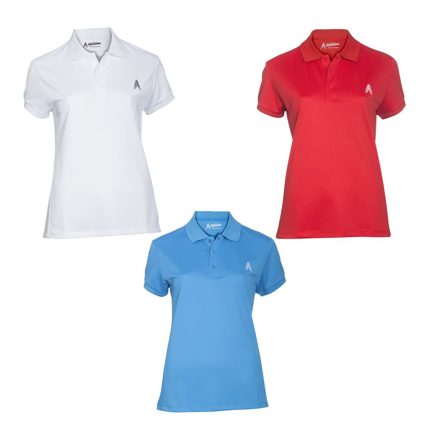 womens golf polo shirt by royal and awesome 3 colours