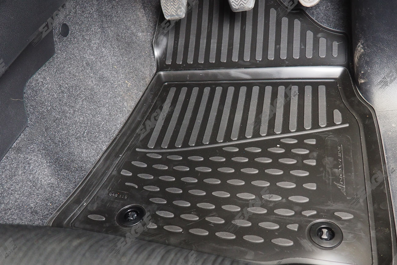 Toyota Hilux Rubber Floor Mats Deep Tray Tailored Fit Tpe