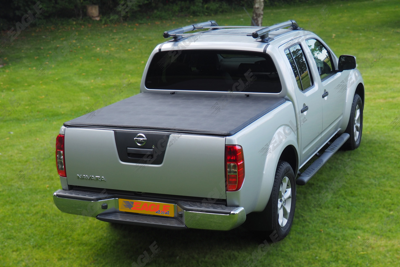 nissan navara d40 black roll bar and soft bed cover combo package ebay. Black Bedroom Furniture Sets. Home Design Ideas