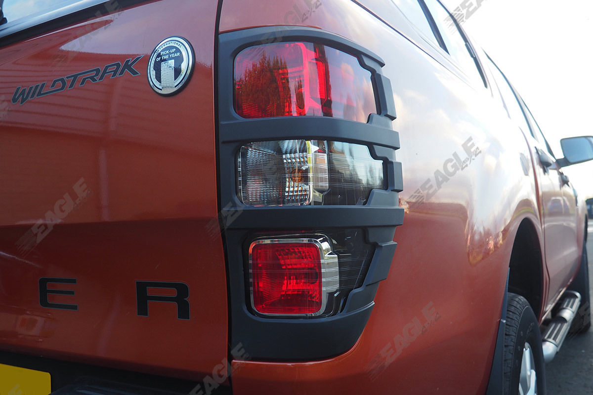 Ford Ranger T6 Wildtrak Rear Light Guards Black Styling