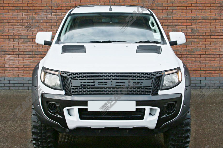 ford ranger t6 12 15 raptor style front grille matte black. Black Bedroom Furniture Sets. Home Design Ideas